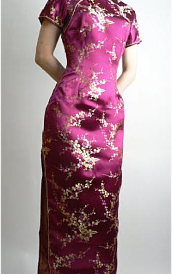 チャイナドレス 紫